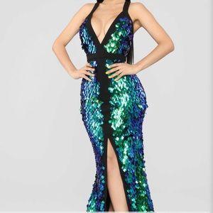 Mermaid / Creature Green Dress